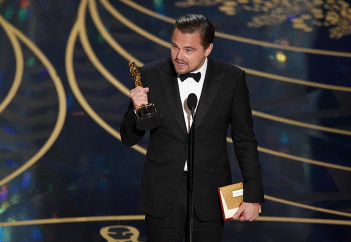 莱昂纳多捧得2016年第88届奥斯卡金像奖